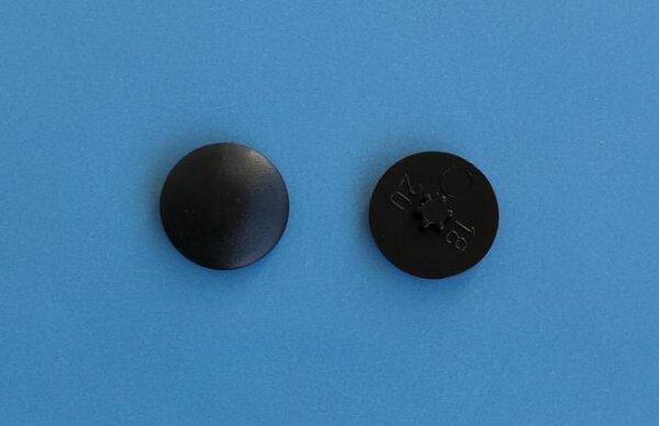 Abdeckkappen Innenstern TX30/15 mm Schwarz
