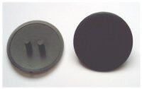Abdeckkappen Exzentergehäuse 25 mm schwarz