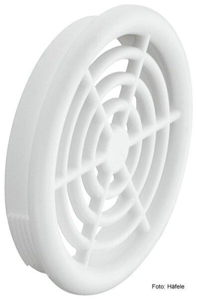 Luftrosette Kunststoff weiss 48/44 mm