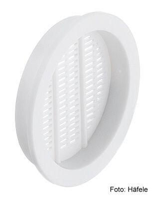 Luftrosette Kunststoff weiss 49/43 mm insektenabweisend