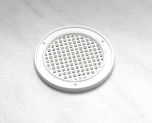 Luftrosette Kunststoff weiss 50 mm