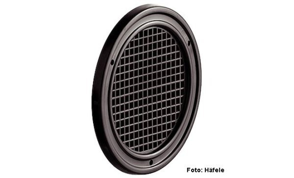 Luftrosette Kunststoff braun 50 mm
