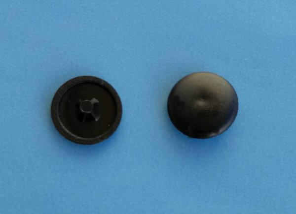Abdeckkappe Kreuzschlitz PZ2/12 mm Schwarz