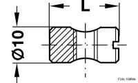 Quermutterbolzen Stahl blank M6x14 mm zentrisch
