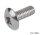 Gewindeschraube Stahl vernickelt M4x8 mm