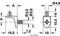 Bodenträger 5/5/8 mm ZA=10 mm zum Schrauben
