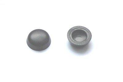 Plattkopfkappen 7/12 mm Schwarz