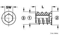 Eindrehmuffe mit Abdeckrand verzinkt M10/15,3x25,0 mm