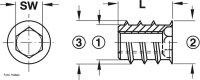 Eindrehmuffe ohne Abdeckrand Stahl blank M4/8,0x10,0 mm