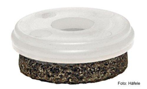 Gleiter-Einsatz für Steinböden, PVC, Holzböden Kunststoff natur D=20 mm