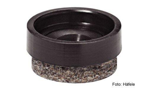 Gleiter-Einsatz für Parkett, Laminat, Marmor Kunststoff schwarz D=17 mm