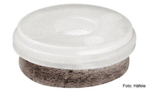 Gleiter-Einsatz für Parkett, Laminat, Marmor Kunststoff natur D=30 mm