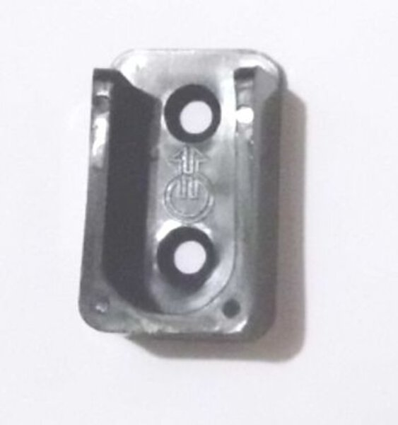 Schrankrohrlager oval zum Anschrauben Kunststoff schwarz
