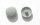 Abdeckkappe Metallrahmendübel PZ3/15 mm flach mit Bund Silbergrau