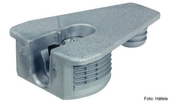 Verbindergehäuse Rafix 30 ohne Wulst aluminiumfarben