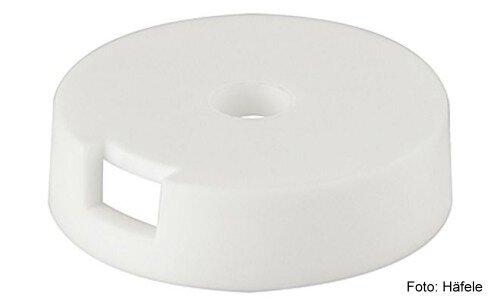Gleiter-Basiselement Kunststoff weiss 25 mm