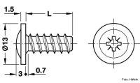 Blendenbefestigungsschraube Kopf-ø 13 mm PZ verzinkt 6,2x13,5 mm