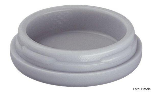 Gleiter-Einsatz für Teppich, Kork, Linoleum Kunststoff grau D=30 mm