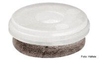 Möbelgleiter Set für Steinböden, PVC, Holzböden Kunststoff natur D=20 mm