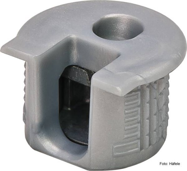 Verbindergehäuse Rafix 20 weißaluminium ohne Wulst für Holzdicke 16 mm