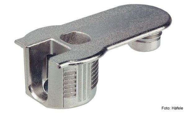 Verbindergehäuse Rafix 20 vernickelt mit Zapfen mit Wulst für Holzdicke 16 mm
