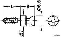 Verbindungsbolzen Rafix 20 verzinkt 3x11 mm