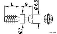 Verbindungsbolzen Rafix 20 verzinkt 5x11 mm