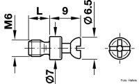 Verbindungsbolzen Rafix 20 verzinkt M6x12 mm