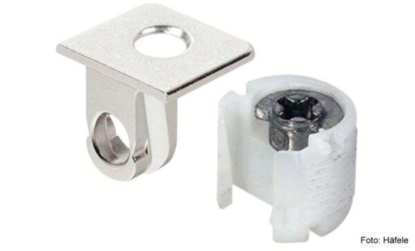 Tablarverbinder Tab 18/16 mm mit Verriegelung zum Schrauben