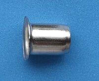 Hülse für Bodenträger 7 mm vernickelt