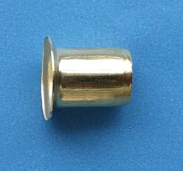 Hülse für Bodenträger 7 mm vermessingt