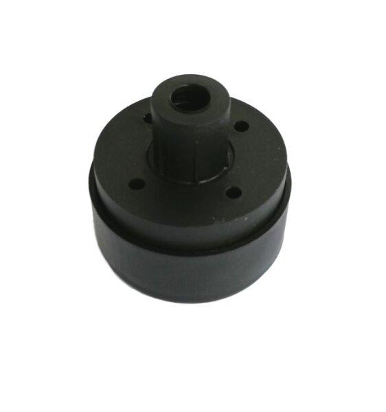 Möbelgleiter höhenverstellbar mit Zapfen schwarz 55x25 mm