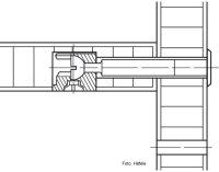 Endkappenbolzen Häfele Minifix B34/19 mm