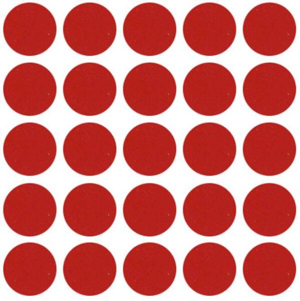 Abdeckkappen selbstklebend Rot