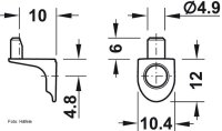 Bodenträger 5 mm mit Steckzapfen zum Anschrauben