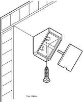 Universal Eckverbinder mit Kappe 18 mm Beige
