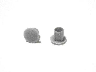 Abdeckkappe 5/8 mm Silbergrau