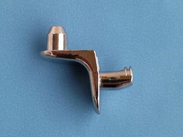 Bodenträger 5 mm mit Steckzapfen ZA=10 mm vernickelt