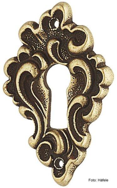 Schlüsselschild 43x28 mm braun Zinkdruckguss