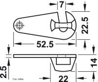 Schließhaken 53 mm für Zargentische