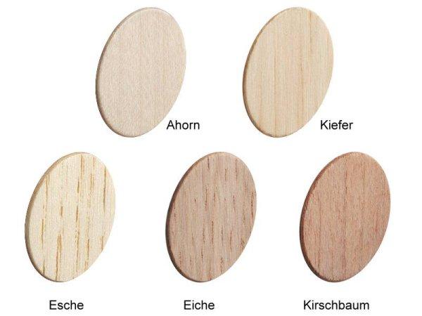 Abdeckkappen selbstklebend Echtholz Ø 18 mm - 12 Stück