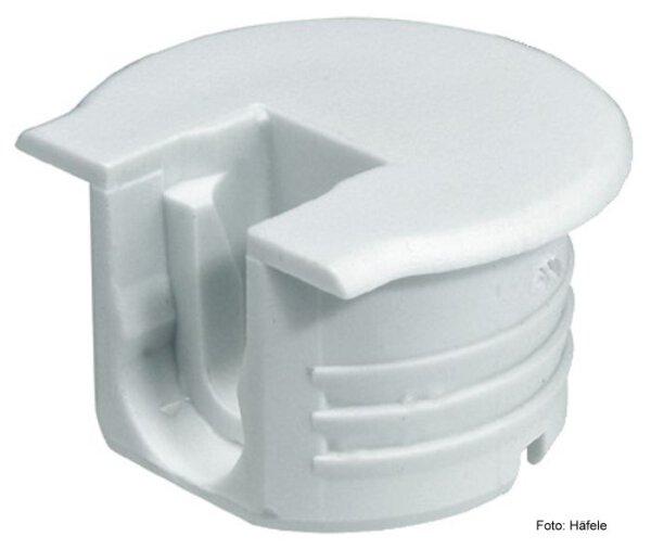 Verbindergehäuse Rafix 20 weiß mit Wulst für Holzdicke 16 mm