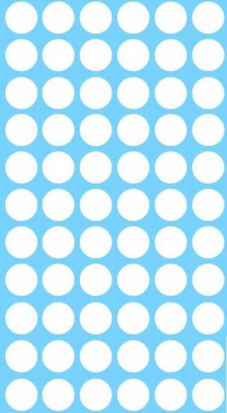 Abdeckkappen Set selbstklebend Weiss 10, 14, 20, 25, 30, 40 mm