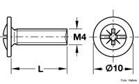 Schrauben für Schubladenschienen M4x8 und M4x9 mm